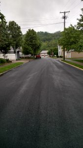 Freshly Paved Asphalt Roads in Township, Pennsylvania.
