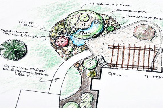 a rock garden design