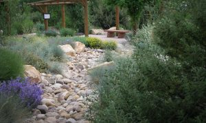 Dry Riverbed Made from Landscaping Rocks