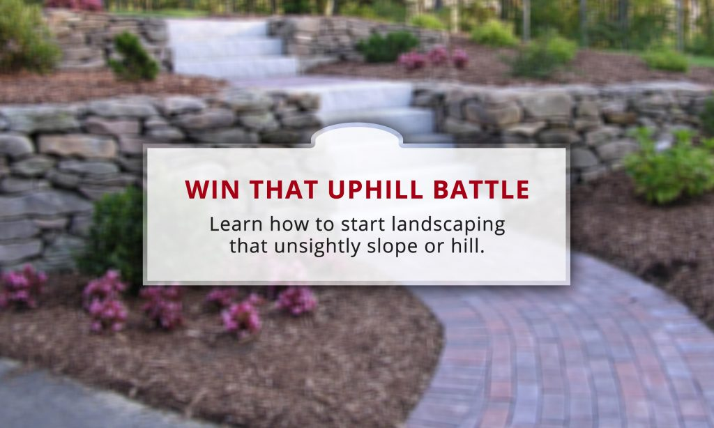 Win The Uphill Battle How To Landscape A Hill Wilson Blacktop