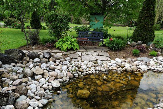 river rock pond