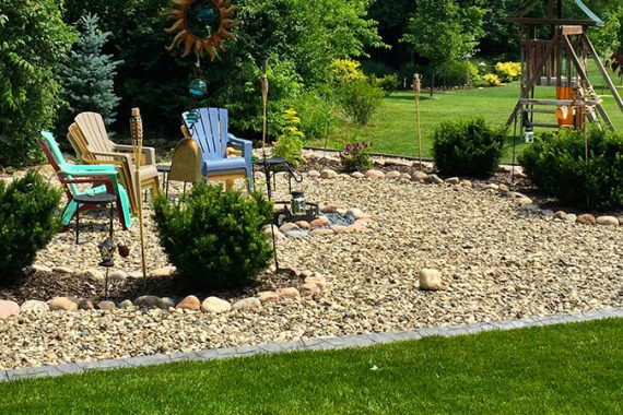 10 Awesome River Rock Landscaping Ideas | Wilson Blacktop